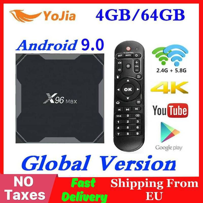 Android 9.0 TV Box X96 Max Amlogic S905 Smart 4K Media Player 4GB RAM 64GB ROM X96Max Set top Box 2G16G QuadCore 2.4G&5G Wifi