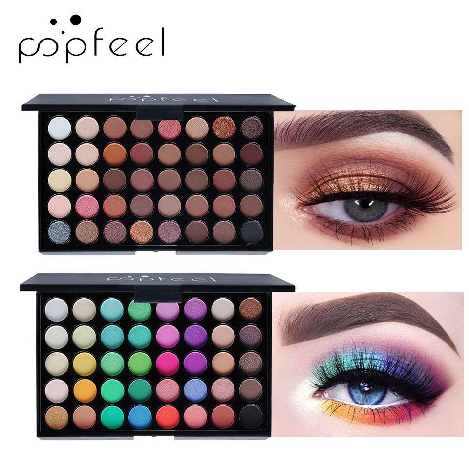 POPFEEL mat ombre à paupières imperméable Smoky maquillage Pallete 40 couleurs fard à paupières Palette ombre à paupières Pigment terre et bonbons Glitte