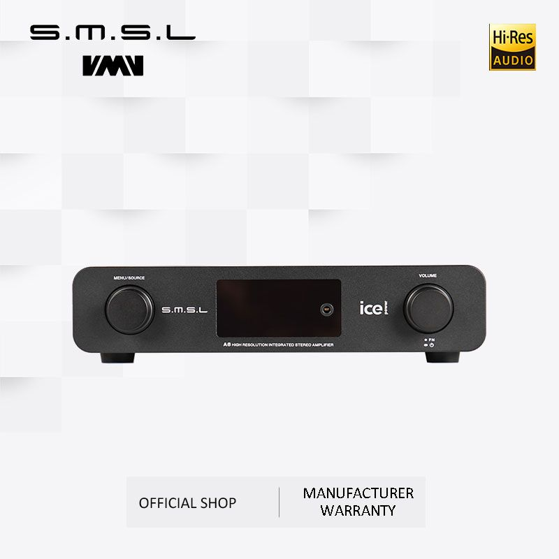 SMSL A6 HIFI Digital Verstärker 50Wx2 DAC Digital 110 V/220 V Native DSD512 USB/Optische/Koaxial /LP-Player/CD Analog Eingang