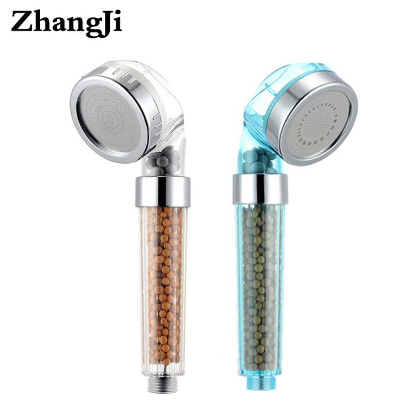 ZhangJi SPA pomme de douche saine économie d'eau haute pression filtre à eau Transparent pomme de douche