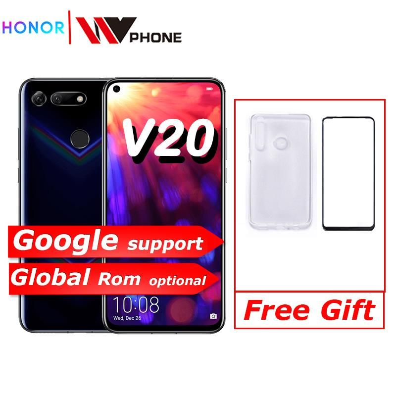 Honor v20 honor Ansicht 20 Link Turbo Smartphone honor V20 Android 9 Unterstützung NFC schnelle ladung Handy