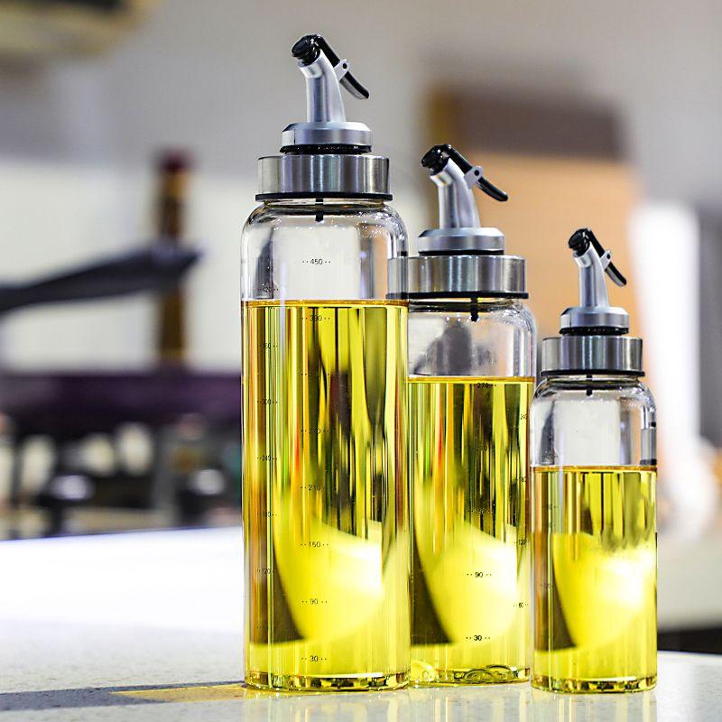 Cooking Seasoning Bottle Dispenser Sauce Bottle Glass Storage Bottles for Oil and Vinegar Creative Kitchen Tools Accessories