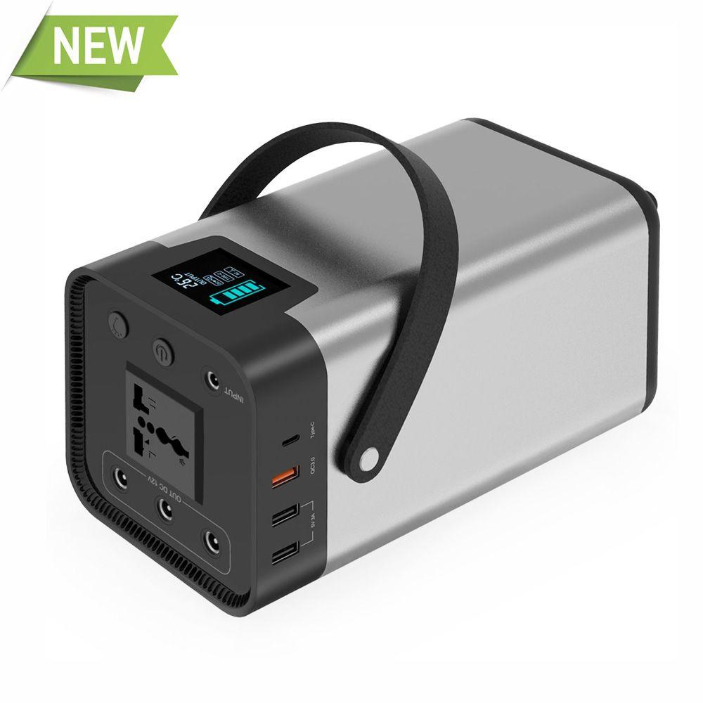 Tragbare Power Bank 200Wh Externe Batterie AC/DC/USB/Typ-C Multi-ausgang für TV fan Auto Kühlschrank Laptop Drone Projektor etc.