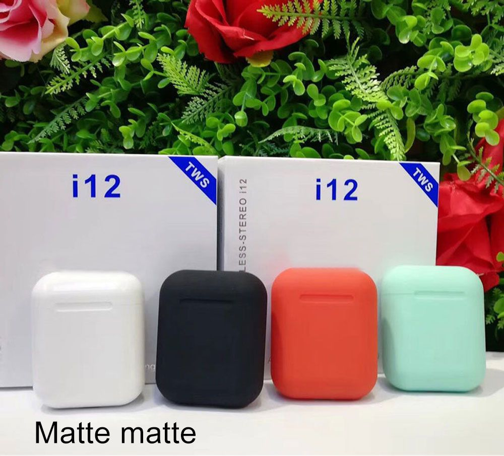 Matte I12 TWS 5.0 Pop up Earphones Wireless Bluetooth Earbuds Original I12TWS Headphones for Android All Smart Phone Ear Aid