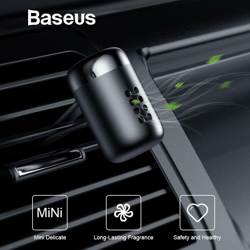 Parfum d'ambiance de voiture Baseus aromathérapie sortie d'air automatique parfum de voiture longue durée diffuseur d'agrafe de parfum parfum de voiture solide