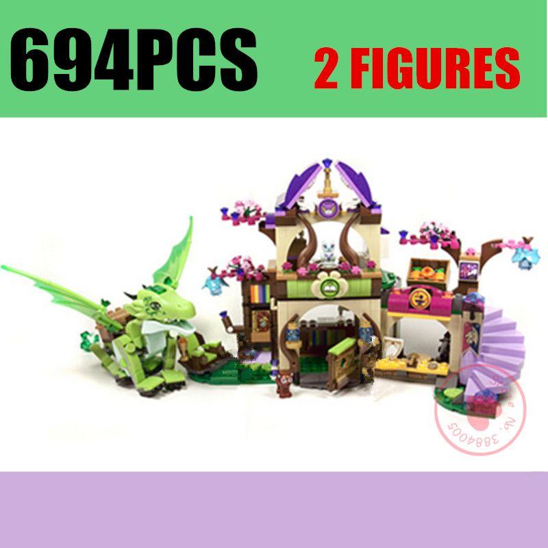 Nouveau 10504 Dragon forêt château Fit fées elfes Dragon Figures amis bloc de construction briques jouets pour filles enfants cadeau anniversaire