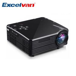 Excelvan LED1018 Mini Portable LCD Projector HDMI USB VGA AV SD Multimedia Interfaces Max 1080P Movie Home Cinema PK YG300 YG310