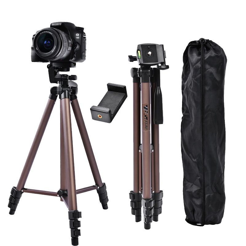 Fosoto WT3130 Mini trépied en alliage d'aluminium avec support pour téléphone pour Canon Nikon Sony DSLR appareil photo numérique DV caméscope