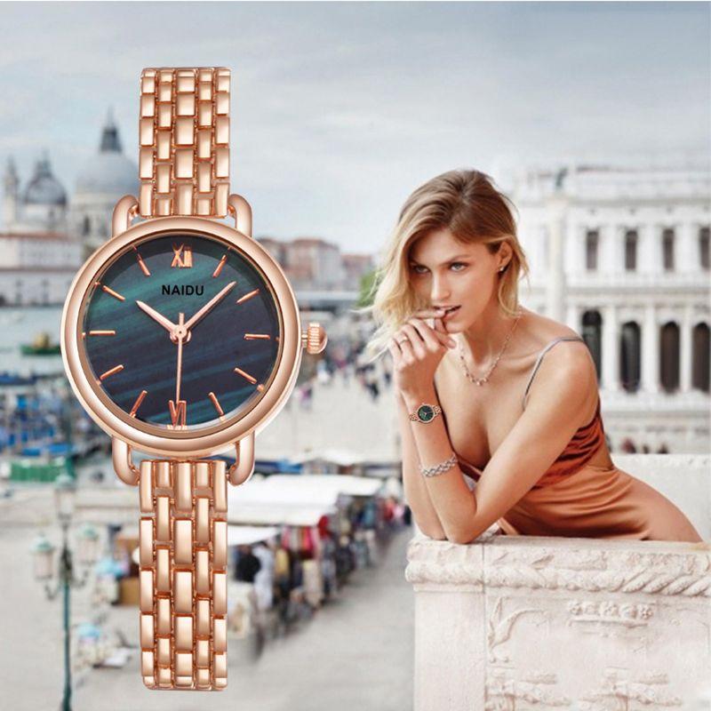 Femmes horloge dames mode Simple élégant marbre miroir cadran montres femmes Simple en acier inoxydable décontracté montre-bracelet Top chaud