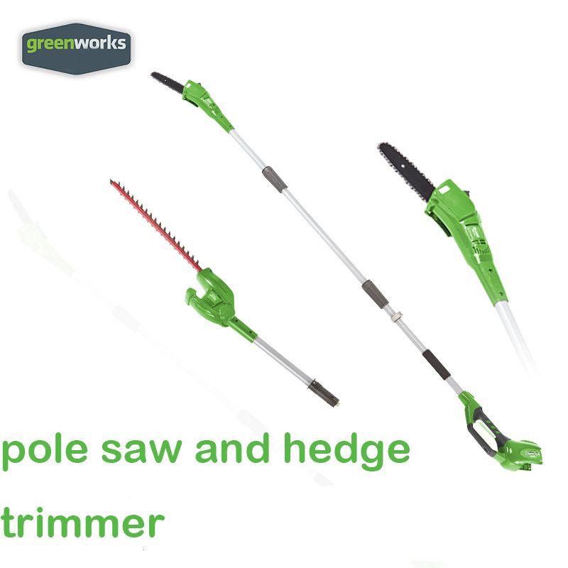 Neue arriaval GreenWorks 20302 G-MAX 40V 8-Zoll Cordless Pol Sah und hedge trimmer kamm batterie und ladegerät enthalten