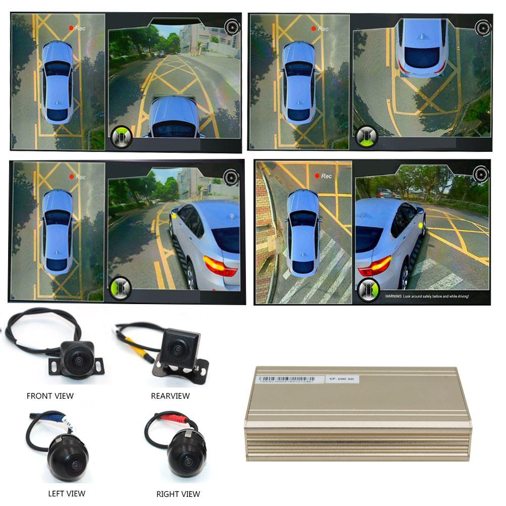 Smartour auto 3D Surround View Überwachung System DVR Recorder 360 Grad Fahren Vogel Ansicht Panorama Kameras 4-CH mit G sensor