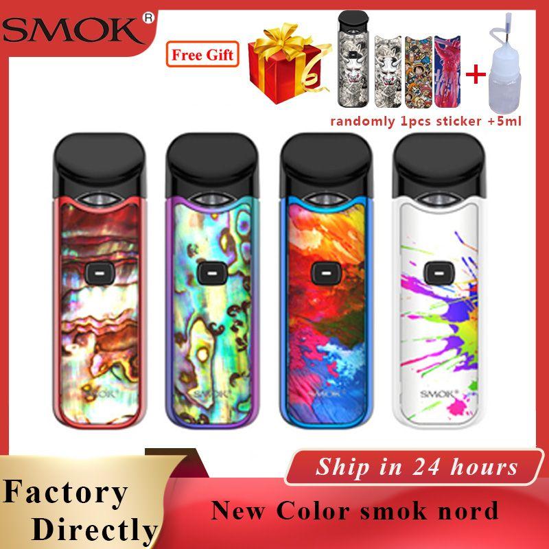 Cigarette Électronique originale Pod Kit Smok Nord Pod Kit De Démarrage & 3ML Gousses Électronique cigs MTL Vapeur Vape Kit vs smok slm/mico