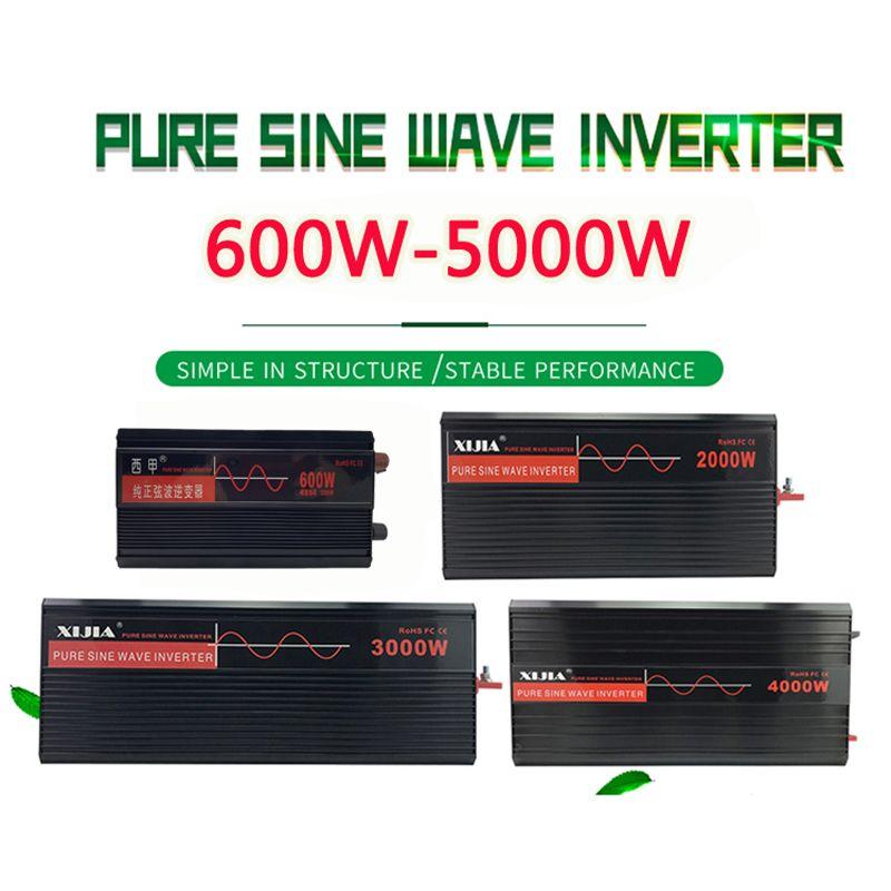 Onduleur à onde sinusoïdale pure DC12V/24 V/48 V/60 V/72 V à AC 110 V/120 V/220 V/230 V/240 V/V convertisseur outil pour la maison/ bateau/Solaire