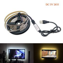 USB LED Strip lamp 2835SMD DC5V Flexible LED light Tape Ribbon 1M 2M 3M 4M 5M HDTV TV Desktop Screen Backlight Bias lighting