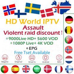 GOTiT IPTV Nordic Europe Israel Sweden Spain Portugal Italy Dutch UK Arabic IPTV M3U Subscription 4 Android Smart TV Mag Enigma2