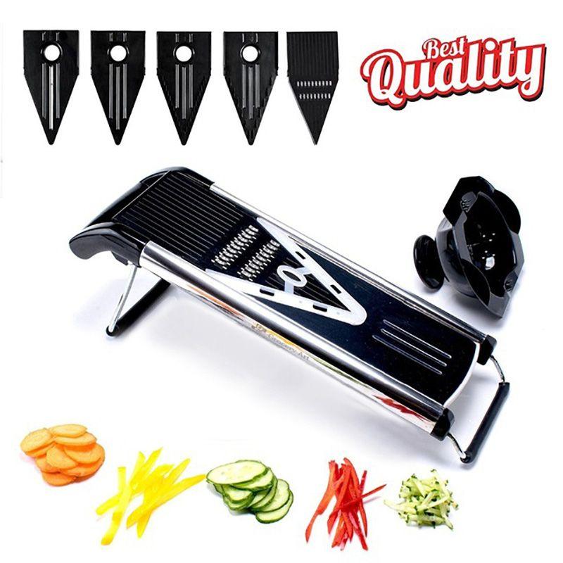TTLIFE couleur aléatoire multifonctionnel v-trancheuse Mandoline trancheuse alimentaire hachoir fruits et légumes Cutter avec 5 lames outil de cuisine
