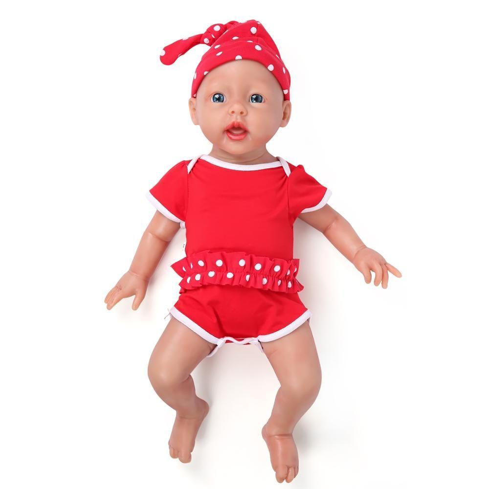 IVITA WG1515 50cm 3960g Realistische Blau Augen Silikon Neugeborenen Reborn Babys Weich Lebensechte Mädchen Spielzeug Baby Juguetes Poupee enfant