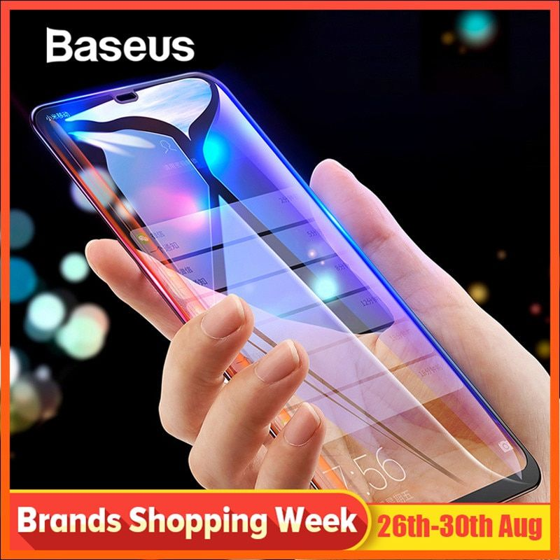 Baseus 0.3mm mince couverture complète verre de protection pour Xiao mi 8 9 protecteur d'écran 3D Surface verre trempé pour Xiao mi 8 mi 9