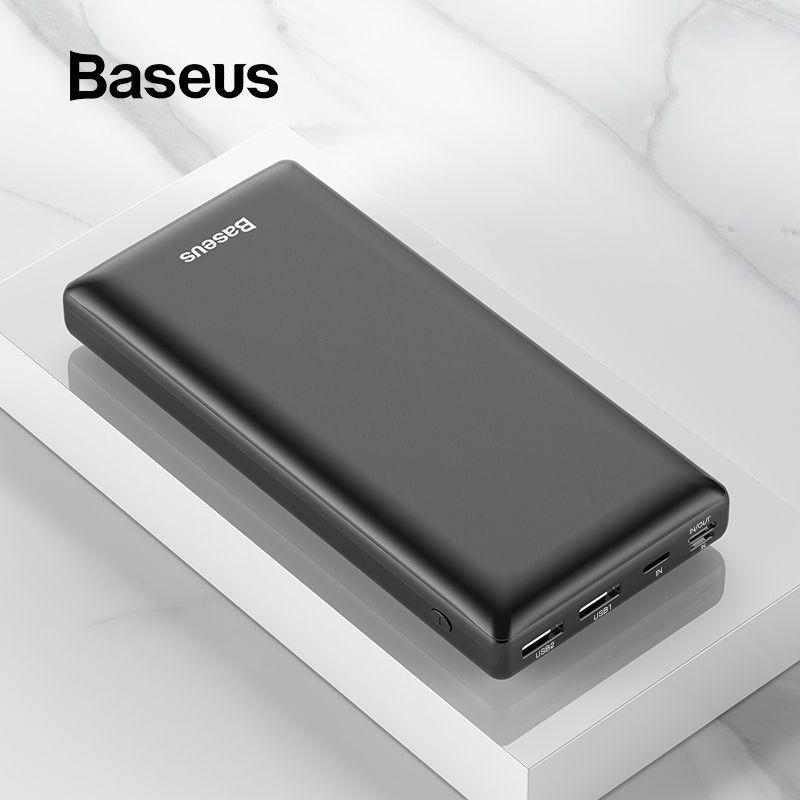 Baseus 30000mAh batterie externe pour iPhone Samsung Xiaomi Powerbank USB C PD charge rapide batterie externe Pack USB C harger banque