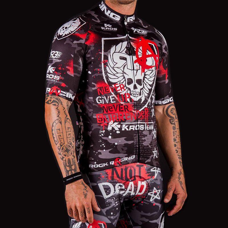 2019 Camouflage Pro cyclisme vêtements été Rock course vélo Maillot Ciclismo respirant course vélo vêtements + Gel Pad