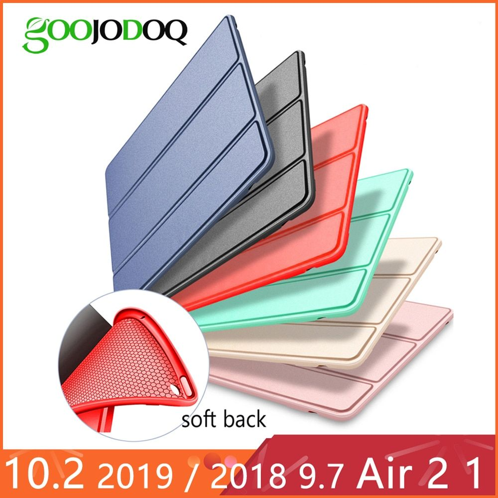 For iPad Air 2 Air 1 Case 2018 9.7 Funda Silicone Soft Back 2017 Pu Leather Smart Case for iPad 6th generation Case 10.2