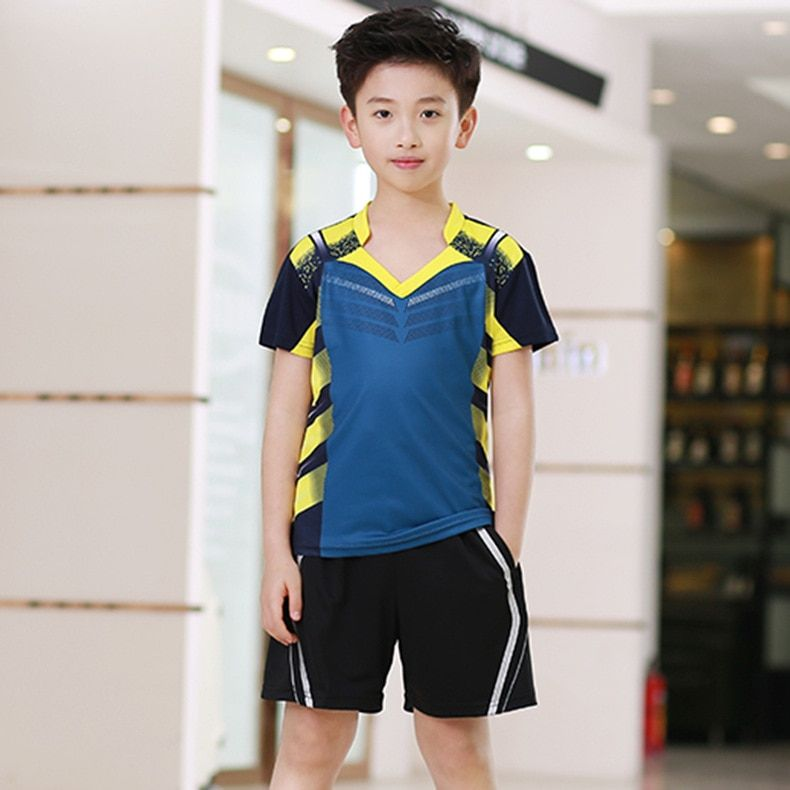 Sommer kinder Kurzarm Tischtennis Tragen Anzüge für Männer Und Frauen kinder Kleidung Wicking Atmungs Turnier Trai