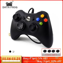 DATA FROG USB Wired Gamepad for Xbox 360 /Slim Controller for Windows 7/8/10 Microsoft PC Controller Support for Steam Game