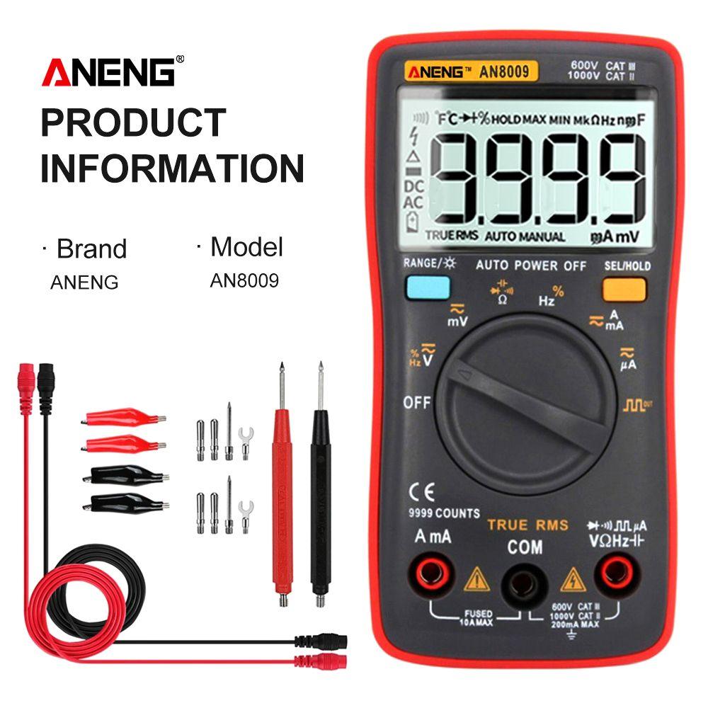 ANENG AN8009 multimeter multimetre True-RMS numérique multimètre digital professionel мультиметр transistor testeur multimetre numerique condensateur testeur automobile capacité électrique compteur temp diode