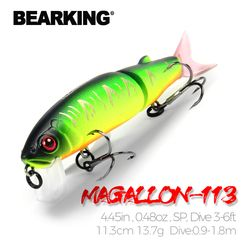 Bearking 11.3cm 13.7g  hot fishing lure minnow quality professional bait swim bait jointed bait equipped black or white hook