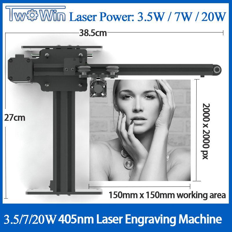 NEJE Master 3500mw 405nm Desktop CNC Laser Stecher DIY Gravur Carving Maschine Laser Schneiden Gravur Machine15x15cm