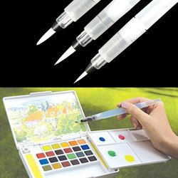 Refillable Paint brush Water Brush Ink Pen Water Color soft head Calligraphy Drawing Painting Illustration Pen Marker Pen