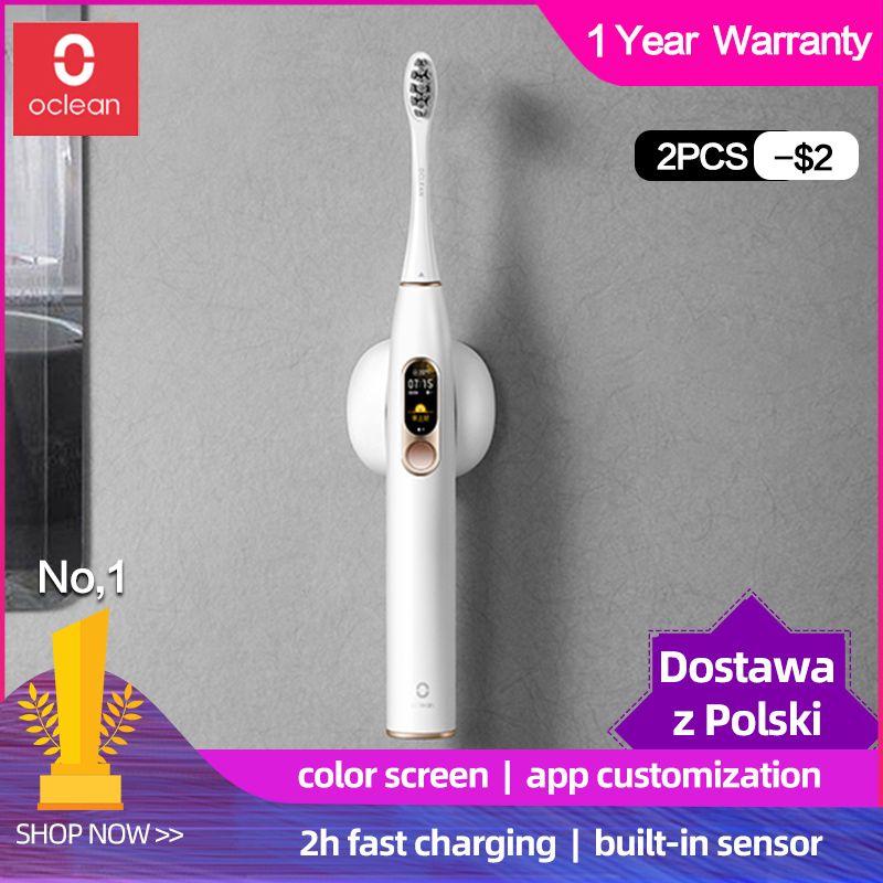Version mondiale Xiaomi Oclean X sonique brosse à dents électrique adulte étanche Ultra sonique automatique rapide charge brosse à dents mijia