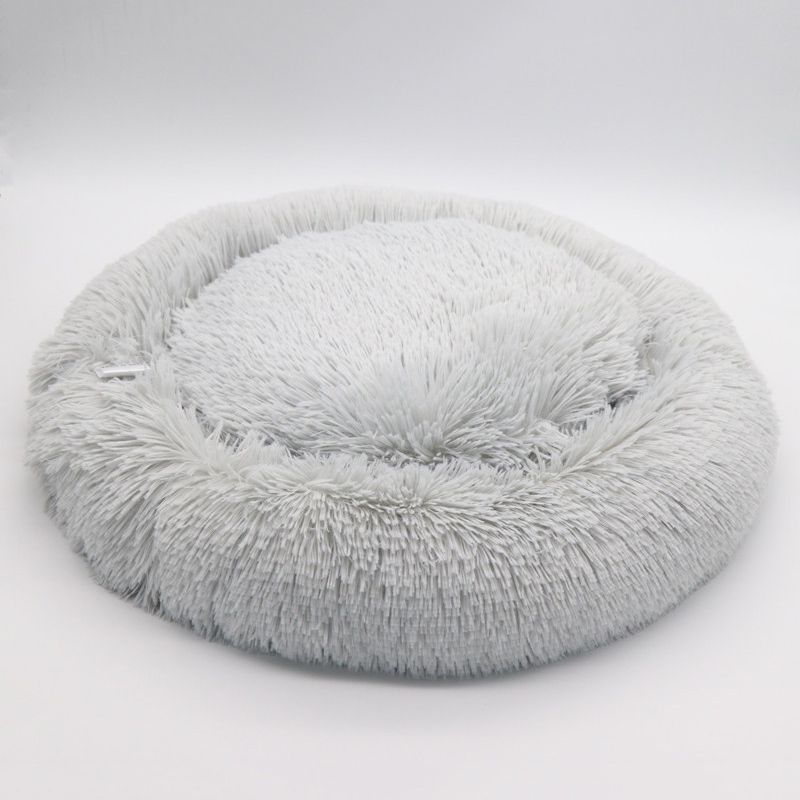 Warm Fleece Dog Bed Washable Pet Donut Cuddler Lounger Cushion For Small Medium Dogs Super Soft Fluffy Plush Pads Cat Supplies