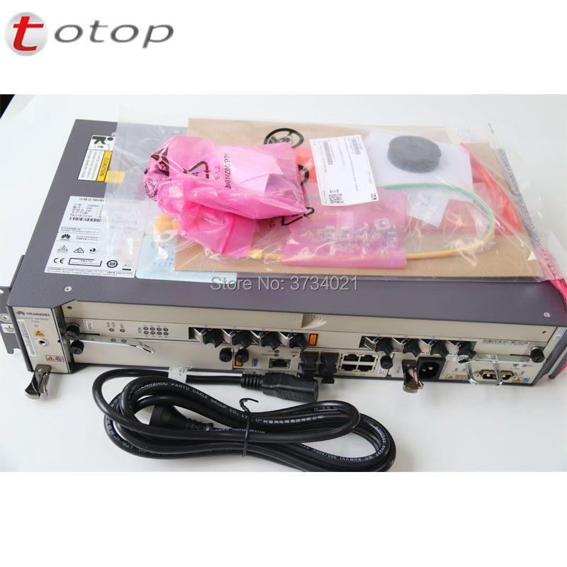 Original Neue HW 19 zoll 1G GEPON OLT MA5608T 1 * MCUD 1 * MPWD AC GPON/EPON optische Linie Terminal 2U höhe mit 8 port GPBD C + Karte