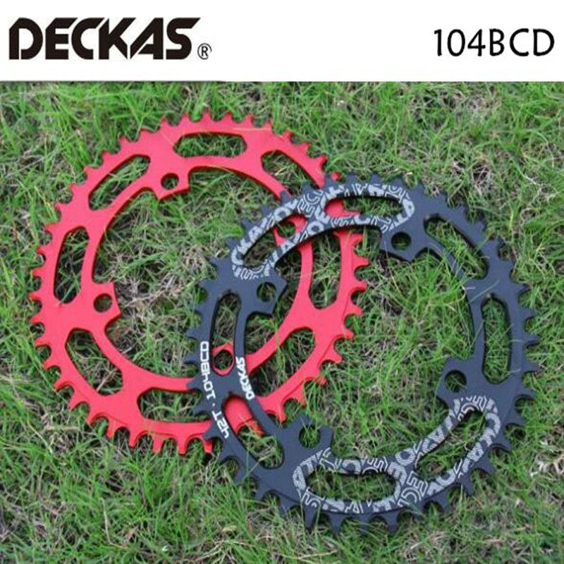 DECKAS 104BCD 40/42/44/46/48/50/52T vélo de montagne roue vtt vélo pédalier aluminium étroit large plateau BCD 104