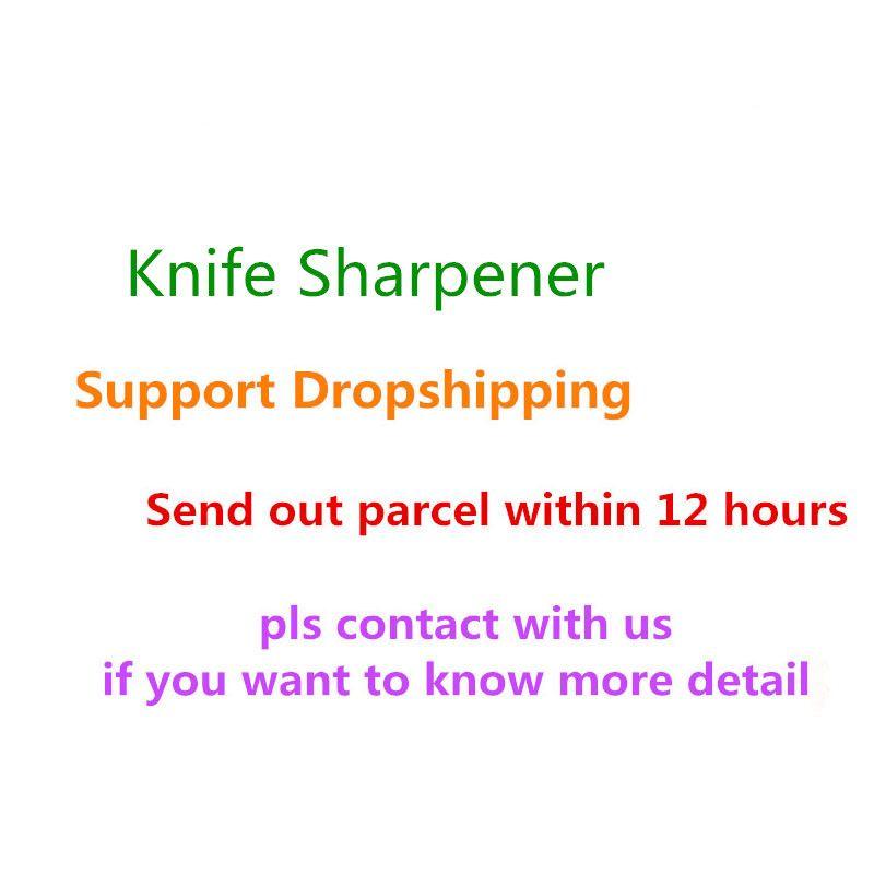 LMETJMA Kitchen Knife Sharpener 304 Stainless Steel Knife Sharpener for Straight Knives Chef Fruit Knives Sharpener KC0196