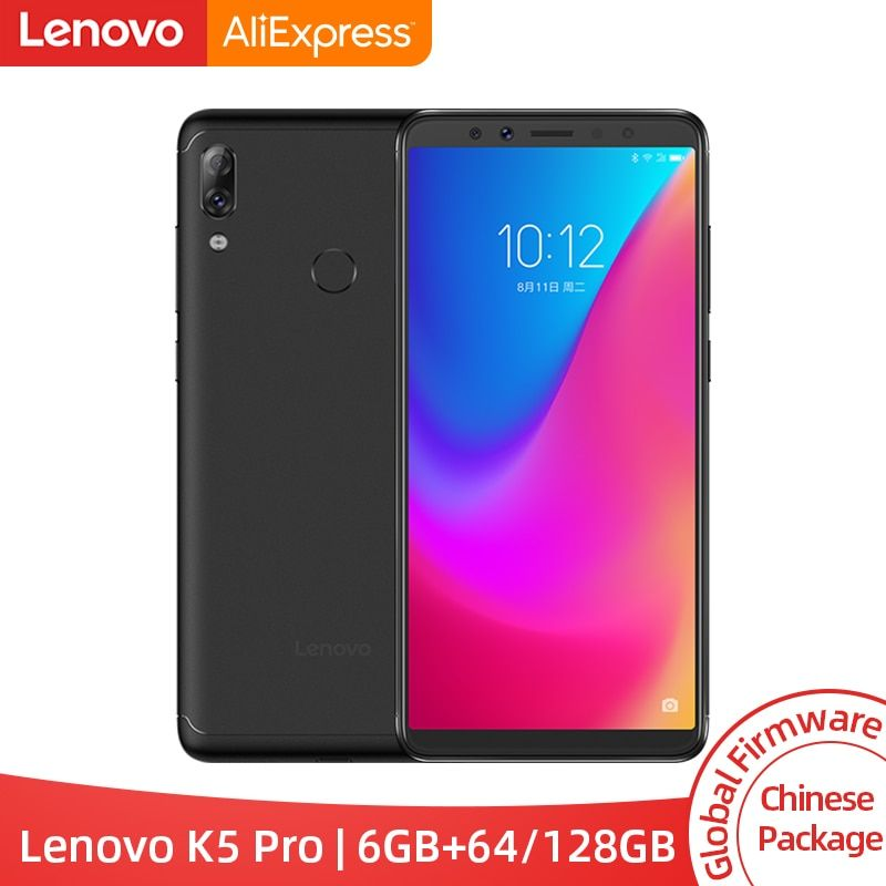 Global ROM Lenovo K5 Pro 6GB RAM 64GB / 128GB Snapdragon 636 Octa Core Four Cameras 5.99 inch 4G LTE Smartphone 4050mAh