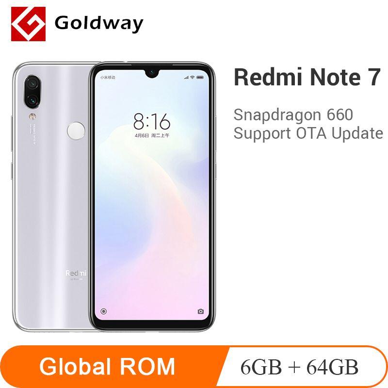 ROM globale Xiaomi Redmi Note 7 6GB RAM 64GB ROM téléphone Mobile Snapdragon 660 Octa Core 48MP double caméra 4000mAh 6.3 plein écran