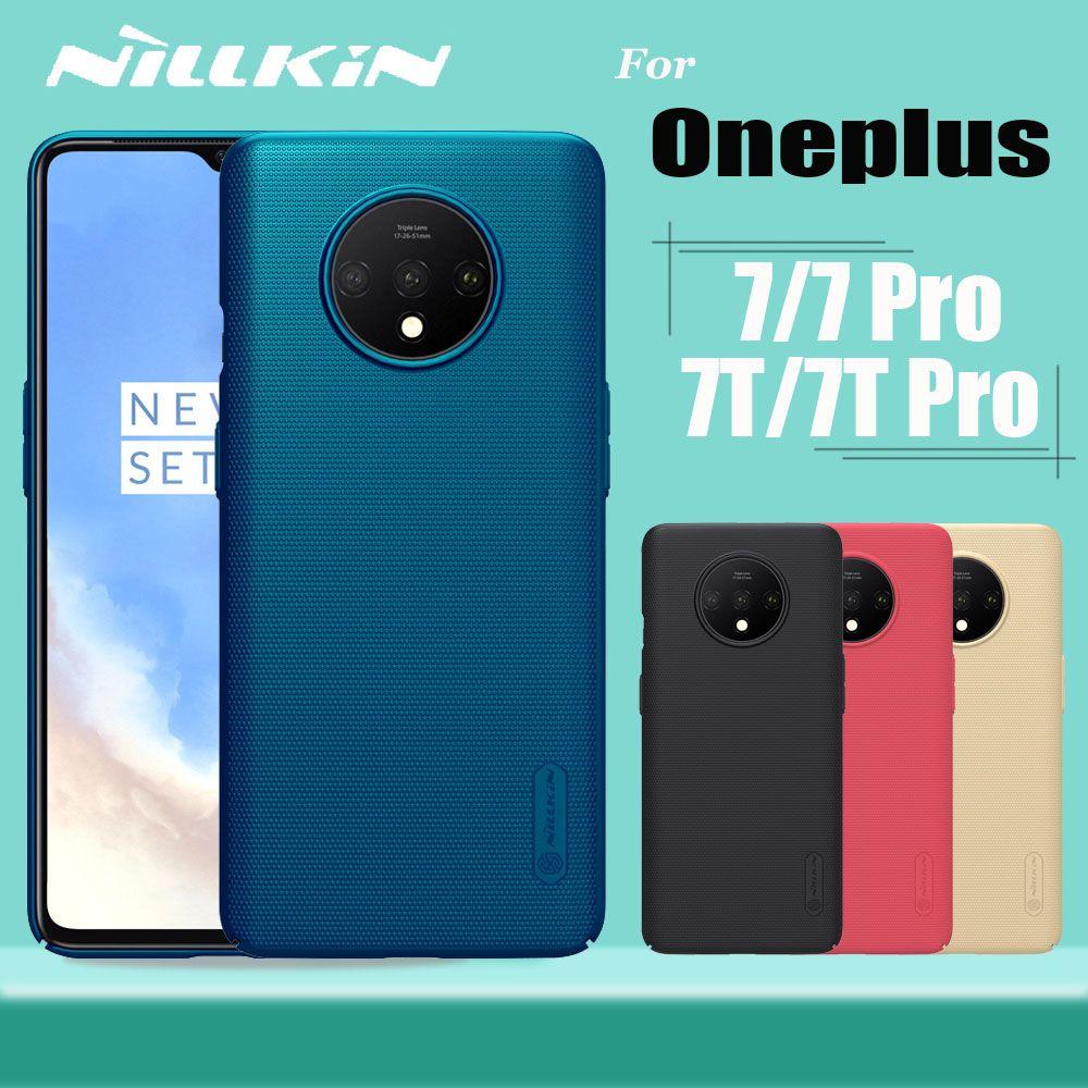 Étui Nillkin Oneplus 7 Pro boîtier PC rigide mat givré Oneplus 7/6 T/6/5 T/5 coque arrière pour téléphone Funda/Capa Oneplus 7/6/5 T/5