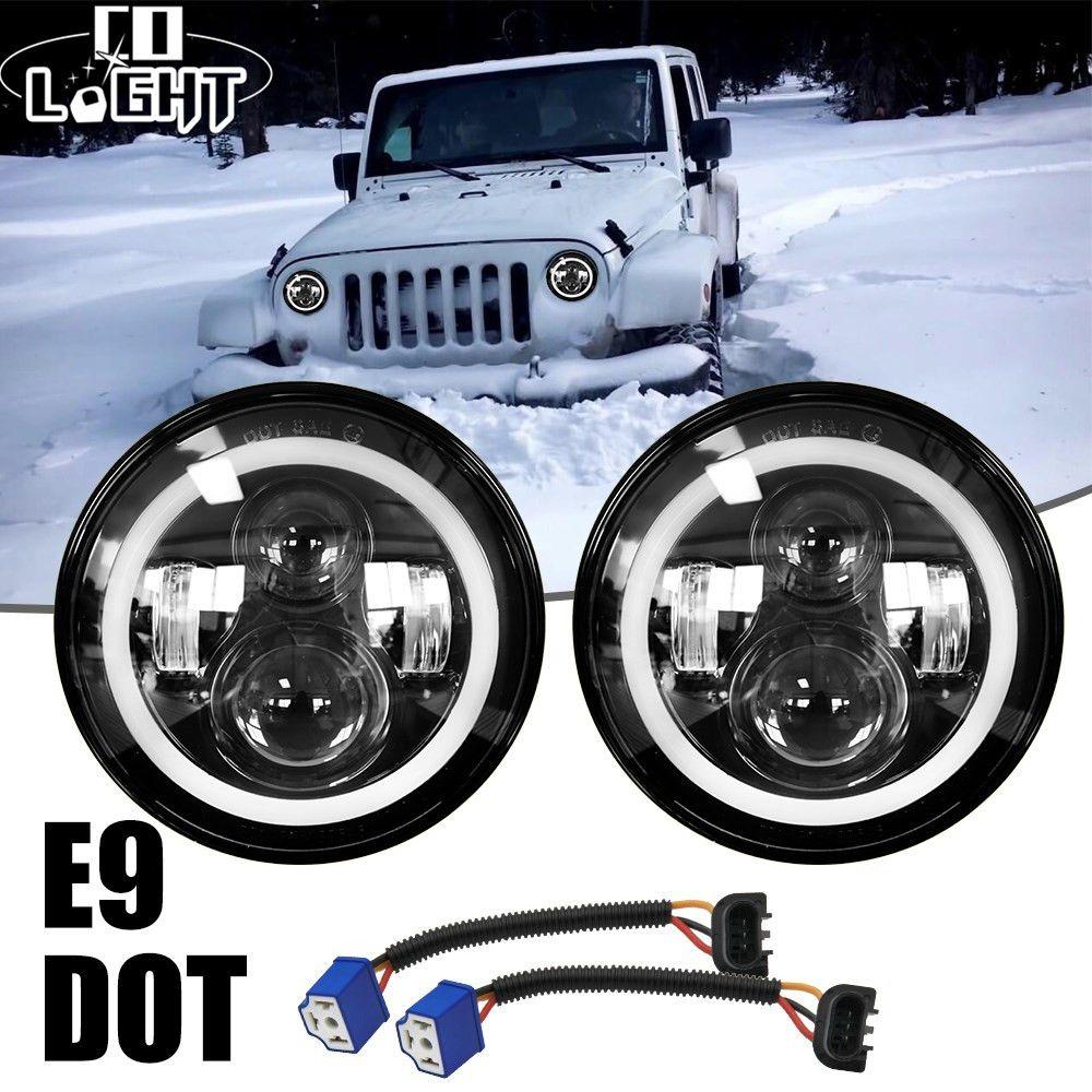 CO lumière 2 pièces 7 pouces LED conduite lumière 50W 30W H4 H13 LED voiture phare Kit Auto pour Jeep LED phares ampoules feux de croisement et feux de route