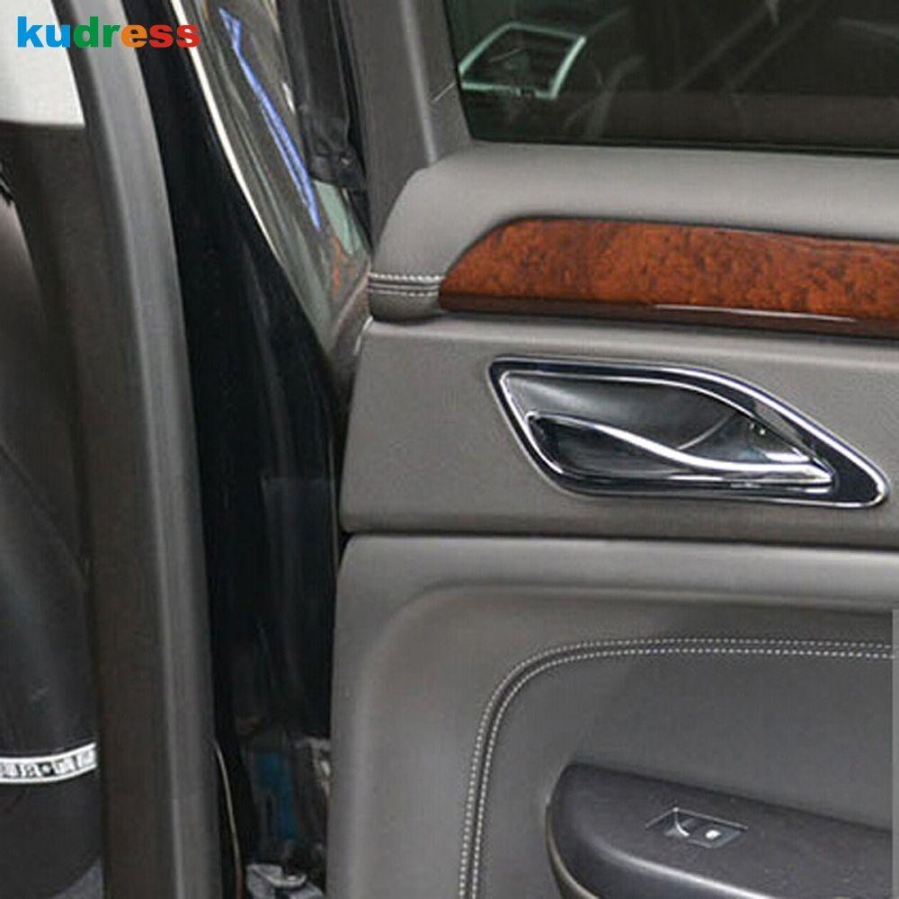 Für Cadillac SRX 2012 2013 2014 Auto Chrom Edelstahl Styling Innen Seite Türgriff Bowl Trim Auto Zubehör