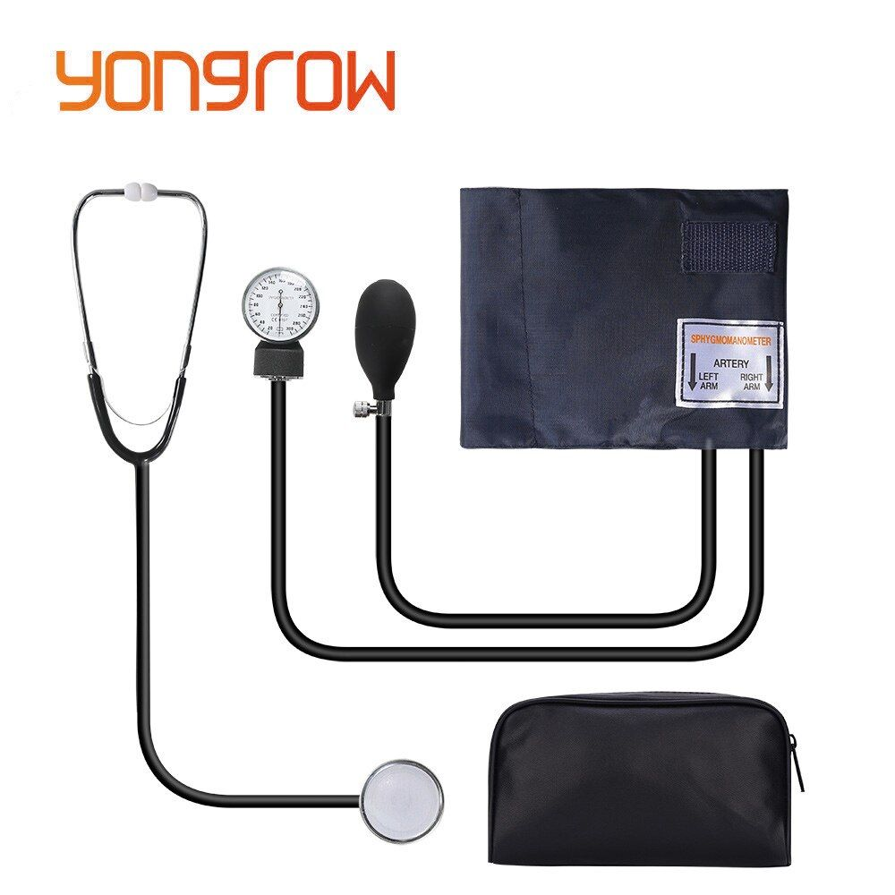 Yongrow Monitor Doctor Blood Stethoscope Manual Cuff Use Health Measure Systolic home Device Pressure Diastolic Sphygmomanometer