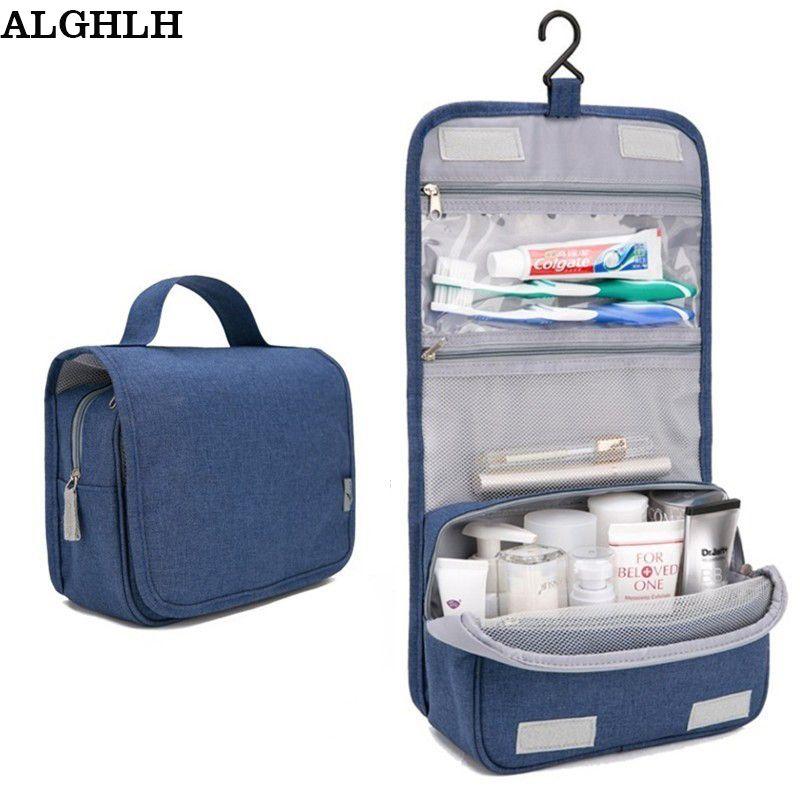 ALGHLH vente femmes voyage Portable esthéticienne sacs à cosmétiques hommes de haute qualité maquillage trousse de toilette suspendus Organayzer lavage stockage