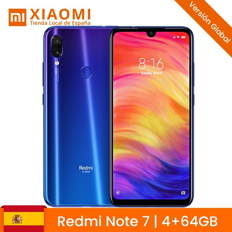 Xiaomi Hinweis Redmi 7 4 GB 64 harte GB 48MP Dual Camara 13MP 6,3
