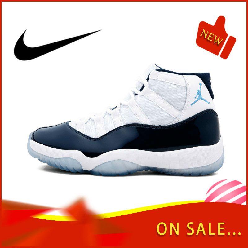 Original Authentischen Nike Air Jordan Retro 11 männer Basketball Schuhe Fashion Outdoor Sport Schuhe Tragen Elastische Slip 378037- 123