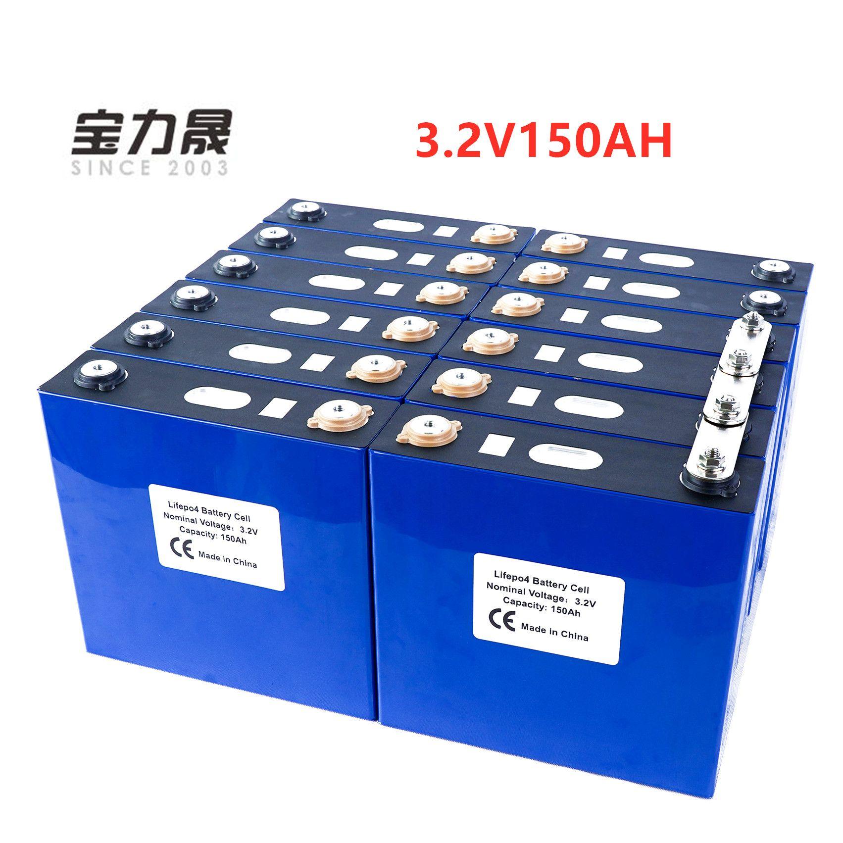 2019 NEUE 16PCS 3,2 V 150Ah Lithium-Eisen Phosphat Zelle lifepo4 batterie solar 24V300AH 48V150Ah zellen nicht 120Ah EU UNS STEUER FREIES