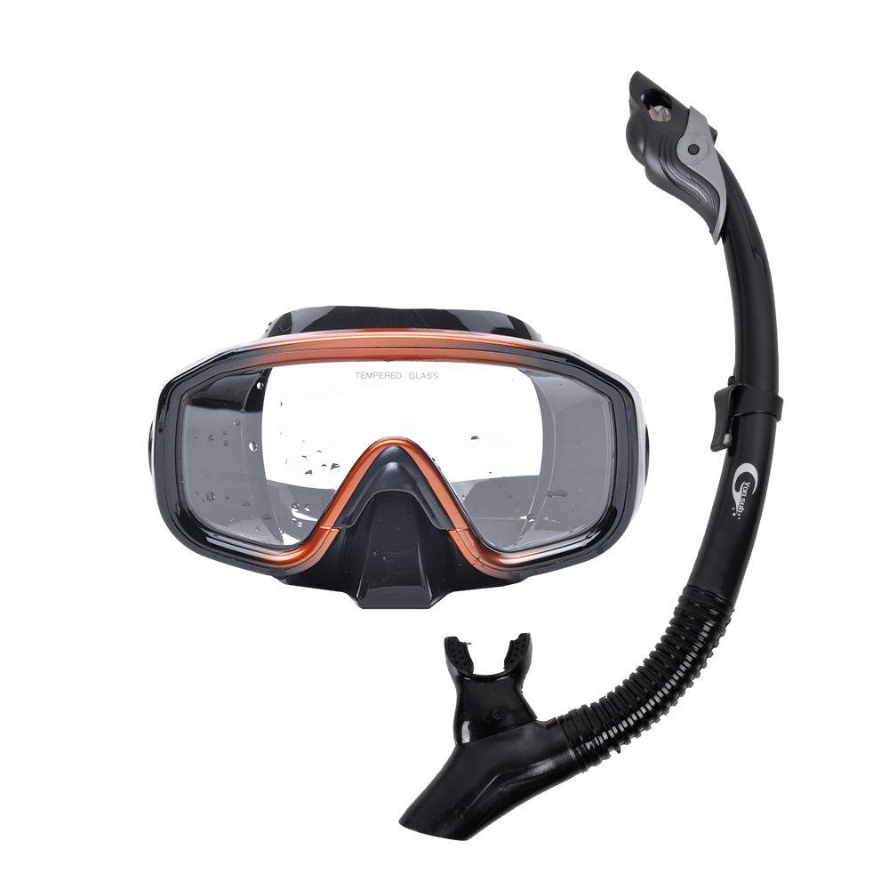 Professional Anti-fog Scuba Mask Diving Mask Underwater Swimming Silicone Mask+Breathing Tube Set Snorkeling Hunting Equipment