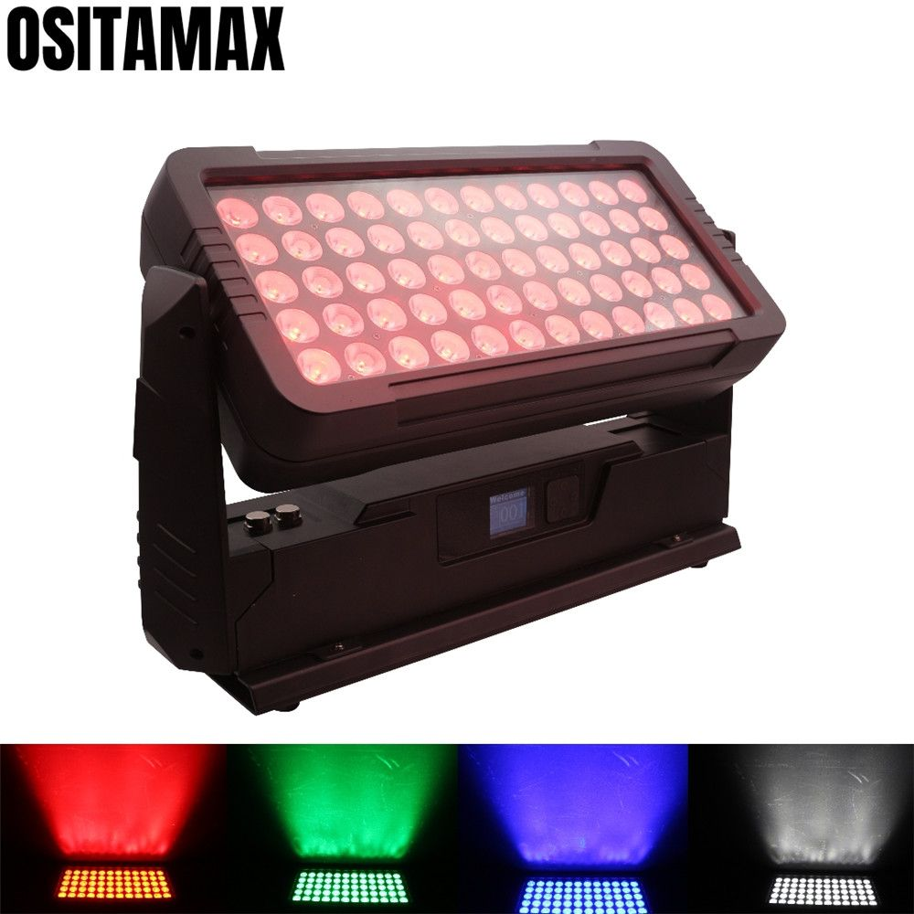 Neue 60x12w RGBW 4IN1 Mini Stadt Farbe Licht Washer Im Freien Boden Licht Strobe Wirkung IP65 Wall Washer lichter