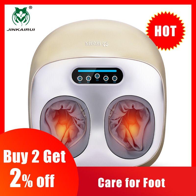 JinKaiRui vibrateur électrique masseur de pieds Massage de soins de santé thérapie de chauffage infrarouge Shiatsu pétrissage Machine à pression d'air