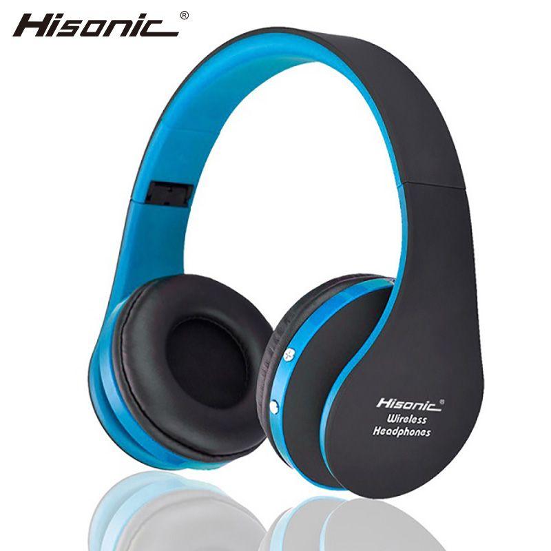 Casque sans fil hisonique casque anti-bruit Portable V4.1 pliable avec Microphone USB casque de jeu bs-sun-8252